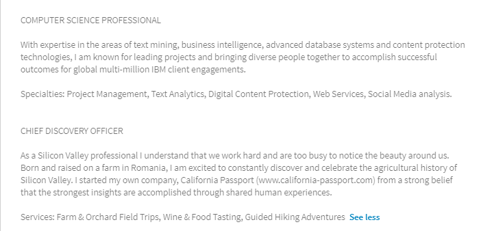 When You Want To Be More Than One Thing On Linkedin